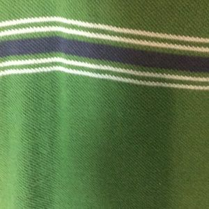 Old Navy Shirts - Old Navy Green Polo w/ Blue & White Stripes XXL